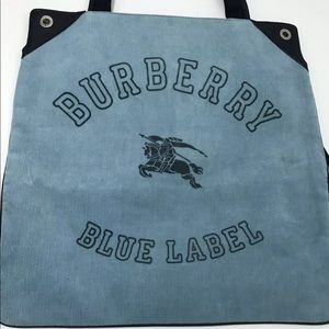 BURBERRY BLUE LABEL Logo Shoulder Tote Bag Auth